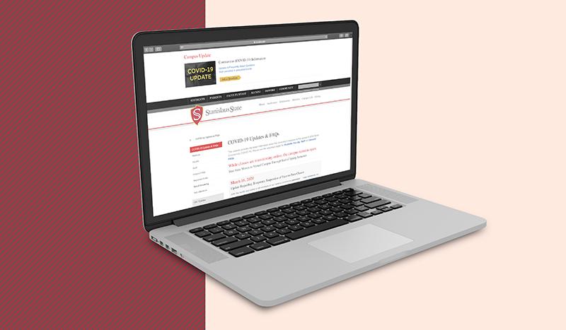 screengrab of COVID-19 Updates & FAQs website