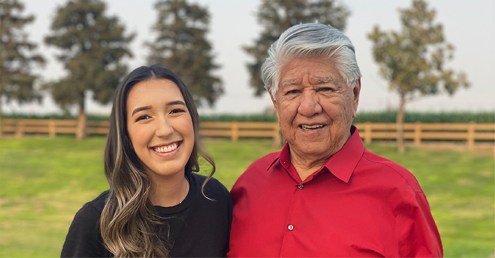 Kaitlyn and her grandfather Herman Roanhorse