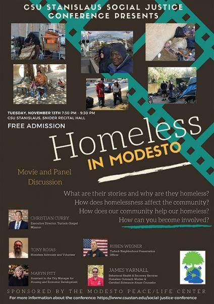 Homeless in Modesto poster