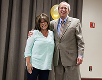 Award winner Jerry Anderson with President Sheley