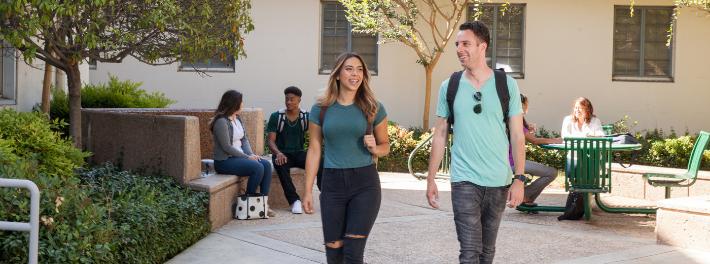 Students on Stockton Campus.