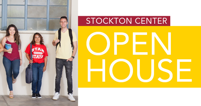 Stockton Center Open House Wednesday October 11, 6 to 8 pm and Friday November 3, 10 am to 12 pm