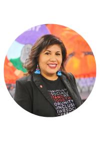 Headshot of Carolina Alfaro. Director of Diversity Center.