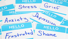 Anxiety, Stress, Depression Name Tags