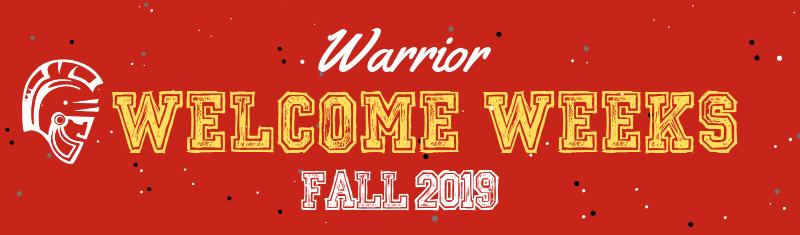 Warrior Welcome Weeks Fall 2019. Titus Head logo.