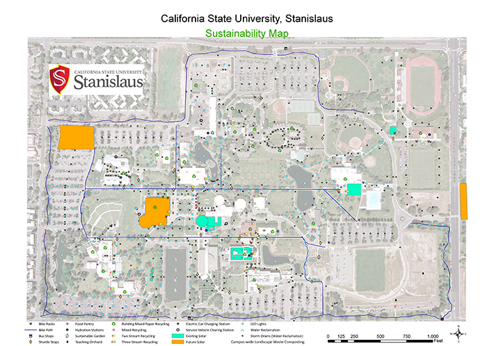 Campus sustainability features