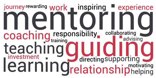 mentoring, guiding, teaching