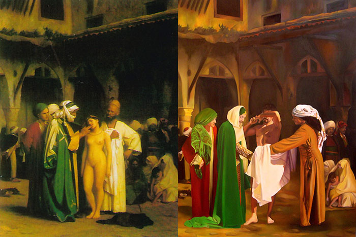 Painting comparison by Abelina Galustian