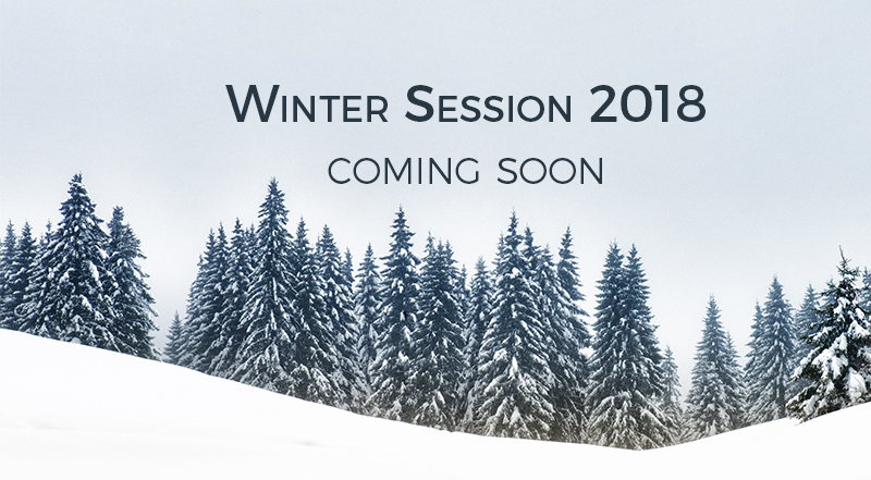 Winter Session 2018 coming soon