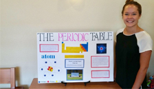 Student with her poster