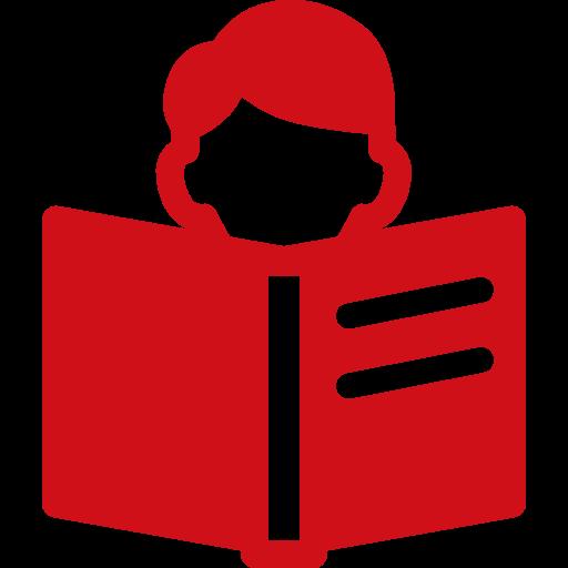 Student reading icon