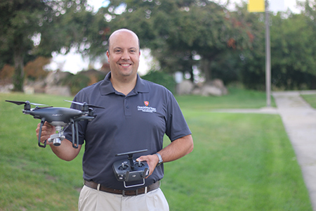 Corey Cardoza with drone