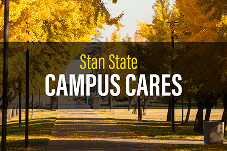 Stan State Campus Cares outdoor image of campus in fall