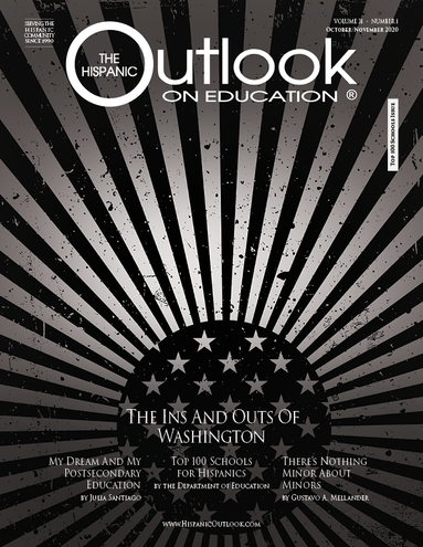 Cover of The Hispanic Outlook on Education October 2020 Issue