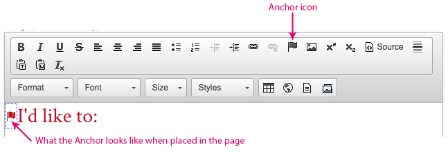 screenshot of where the anchor icon is in the tools