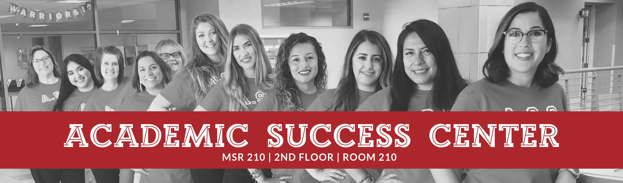 Academic Success Center, MSR210, 2nd floor, room 210