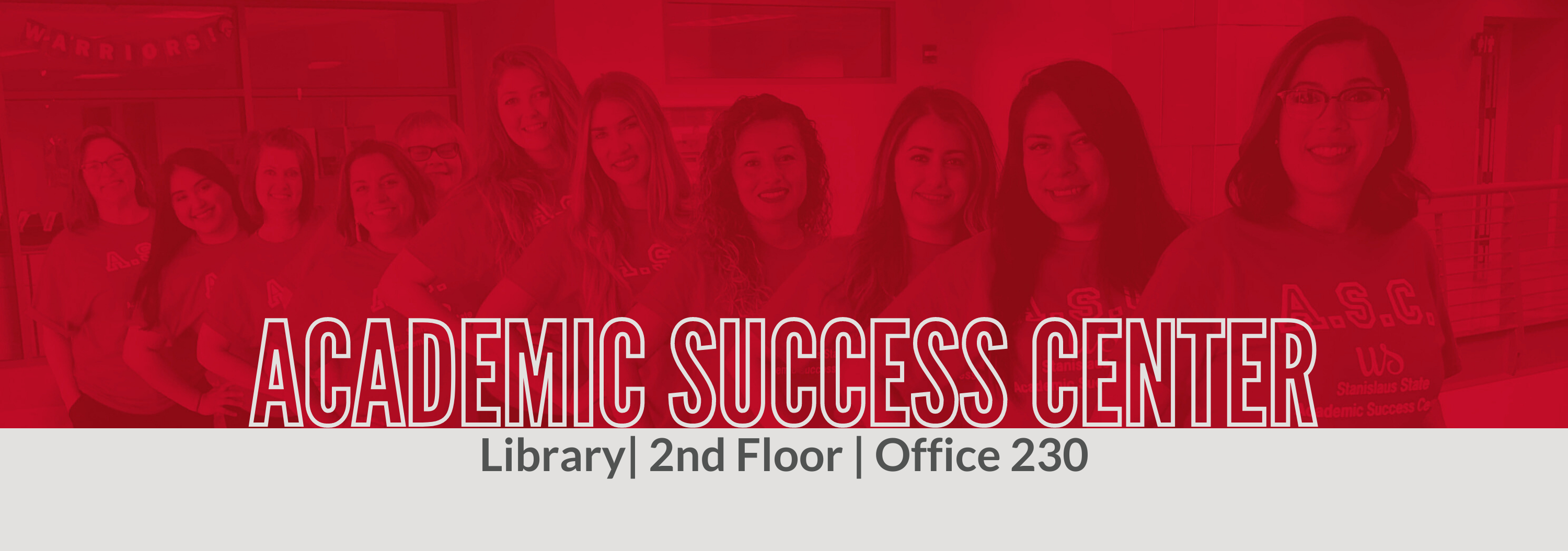 Academic Success Center, Library, 2nd floor, Office 230