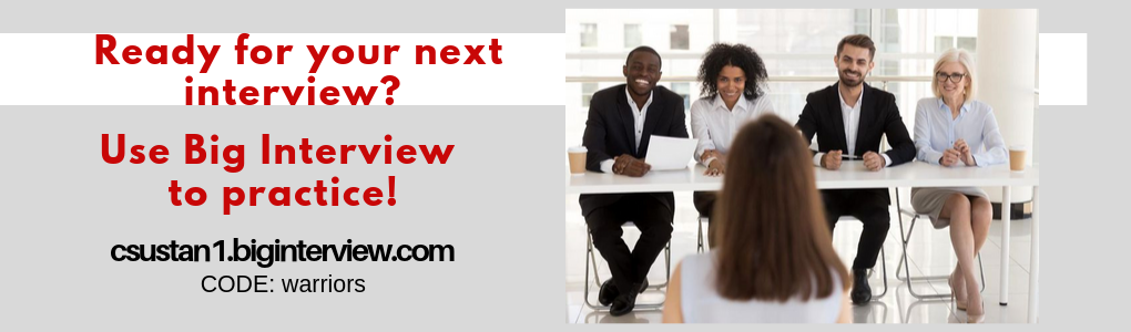 Ready for your next interview? Use Big Interview to practice! code: warriors