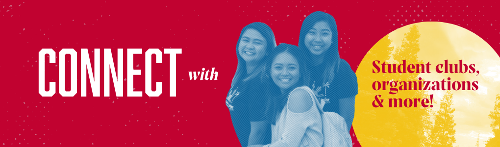 Connect with student clubs, organizations and more! Group photo.