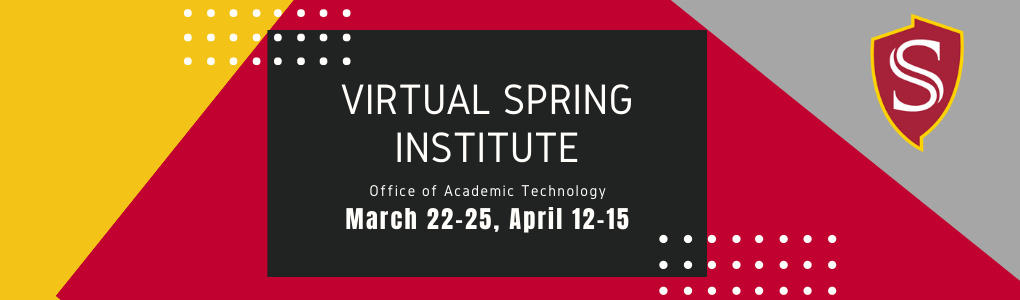 Virtual Spring Institute Banner