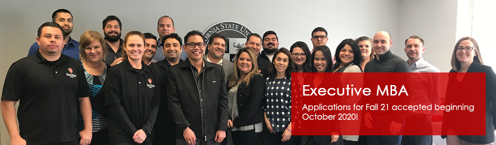 Executive MBA- Applications for Fall 21 accepted beginning October 2020!