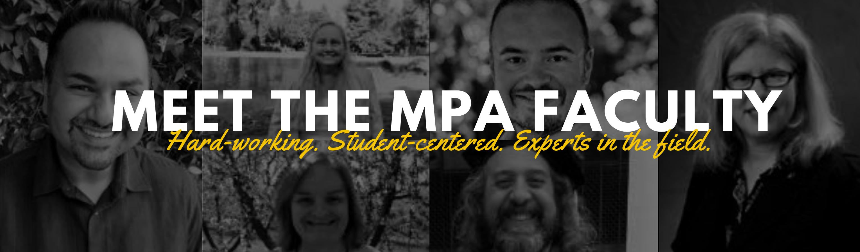Meet the MPA Faculty