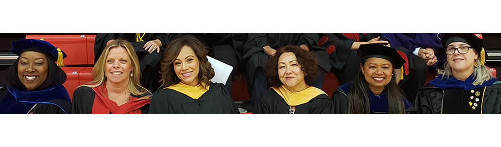 MSW faculty in Caps and Gowns