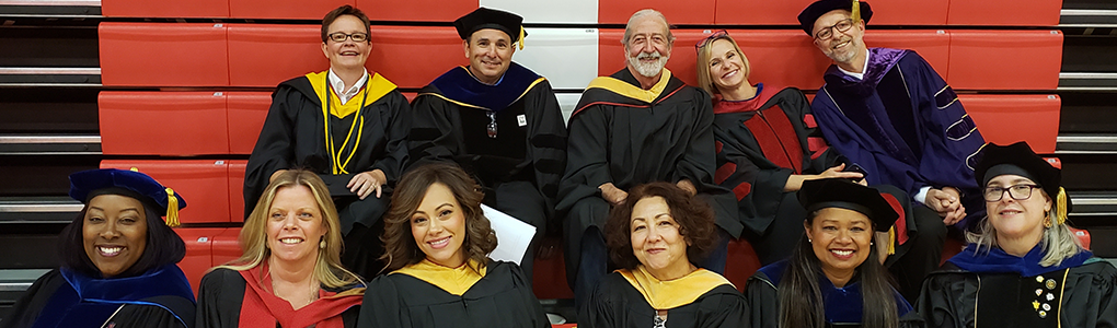 MSW faculty at commencement ceremony