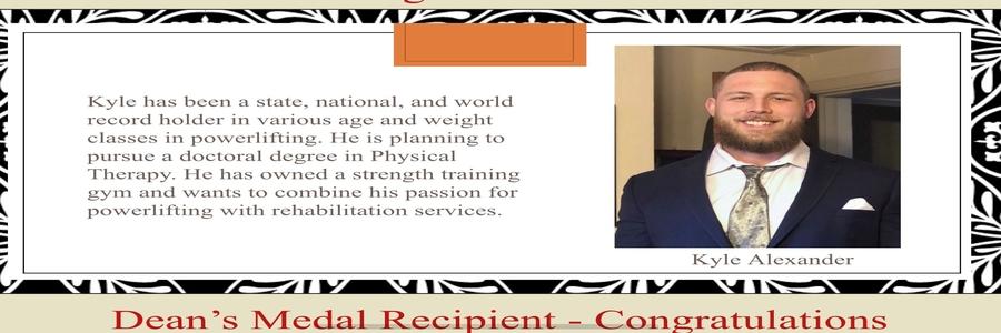 2020 Dean's Medal Award Ex. Science - Kyle Alexander