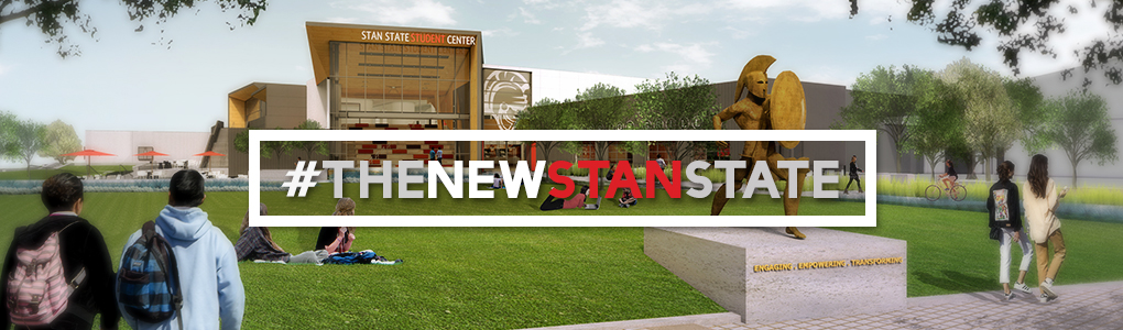 #The New Stan State, rendered image of new Student Center and quad