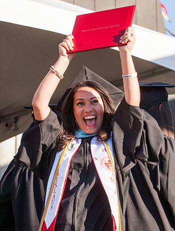 Graduate celebrates