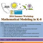 2016 Workshop Mathematical Modeling in K-8