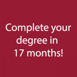 Complete your degree in 17 months
