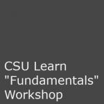 CSU Learn Fundamentals Workshop