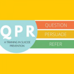 QPR, a training in suicide prevention. Question, Persuade, Refer