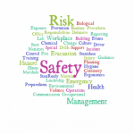 Image with words relating to risk and safety