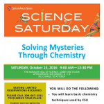 Science Saturday: Solving Mysteries Through Chemistry