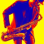 bright jazz musician