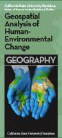 geospatial Analysis of human enviromental change Geography