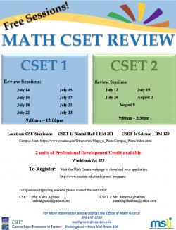 Math CSET Review