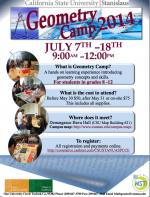 Geometry Math Camp Flyer