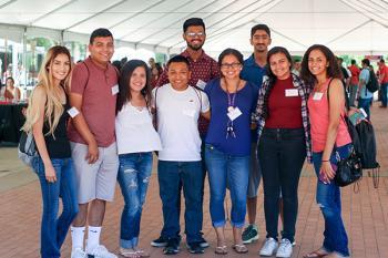 students pose at NSO