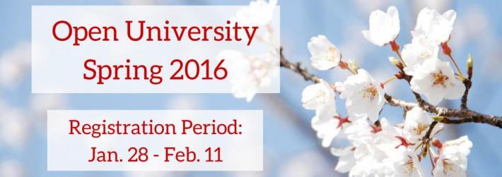 Open University Registration - Jan 28 to Feb 11