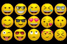 emojis on screen