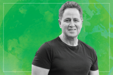Mark green background