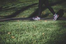 running shoes grass