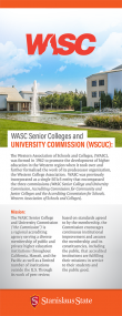 WASC Senior Colleges and University Commission
