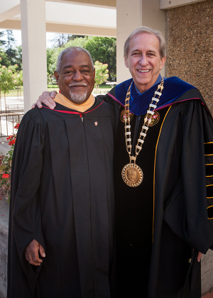 Ron Noble with President Sheley