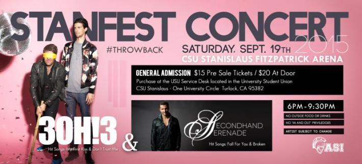 Stanfest Concert Flyer