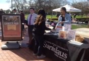 Student staff tabling on campus